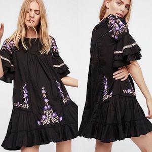 NWOT Free People Pavlo Floral Embroidered Dress
